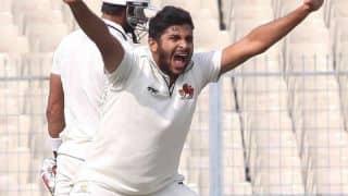 Karnataka all-out for 202 against Mumbai in Ranji Trophy 2014-15 1st Semi-final