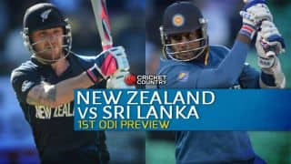 New Zealand vs Sri Lanka 2015-16, 1st ODI at Christchurch Preview: Visitors aim for redemption despite Lasith Malinga's absence