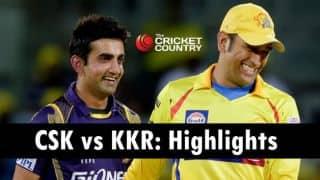 Chennai Super Kings vs Kolkata Knight Riders, IPL 2015 Highlights: Brad Hogg's spell, Dwayne Bravo's heroics and more