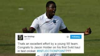 Twitterati hail Jason Holder's maiden 5-wicket haul in the third Test against Pakistan