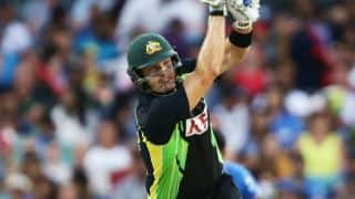 Shane Watson scores maiden T20I century in 3rd T20I against India
