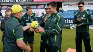 Video: Aaron Finch hands Marcus Stoinis Australia ODI cap