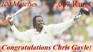Chris Gayle gets to 7,000 Test Runs