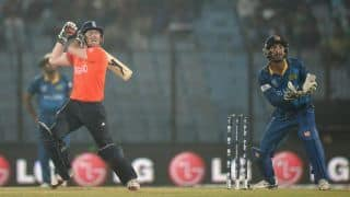 England vs Sri Lanka ICC World T20 2014: Alex Hales, Eoin Morgan bring England closer; score 142/2