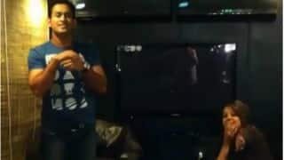 Video: MS Dhoni imitates John Abraham; leaves Sakshi in splits