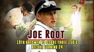 Joe Root: 10th batsman to get three 150 or more Test scores before turning 24