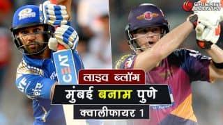 IPL 2017, Live Score in Hindi: Mumbai Indians vs Rising Pune Supergaint, Qualifier 1