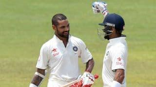 दिल्ली टेस्ट: दूसरी पारी में भारत को लगे शुरुआती झटके, भारत की कुल बढ़त 214 रनों की हुई