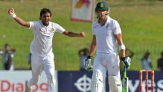 South Africa recover from early jolts to reach 98/3 against Sri Lanka at stumps on Day 2