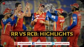 Rajasthan Royals vs Royal Challengers Bangalore IPL 2015 Match 22 at Ahmedabad, Highlights: Mitchell Starc strikes back, Dinesh Karthik's gravity-defying catch, and more