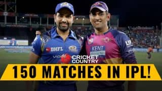 IPL 2017: Rohit, Dhoni complete 150 matches in IPL