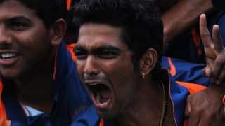 Sanju Samson's blitz lifts India to 340/8