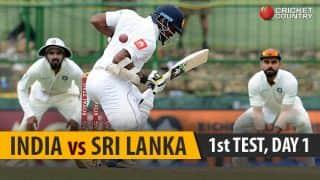 LIVE CRICKET SCORE, India vs Sri Lanka 2017-18, 1st Test, Day 1 at Kolkata: Stumps for the day.