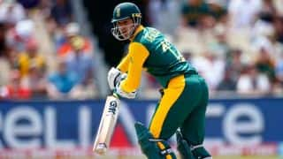 South Africa vs West Indies, ICC Cricket World Cup 2015 Pool B match at Sydney: Quinton de Kock out for 12