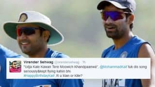 Virender Sehwag wishes Mohammad Kaif in trademark style; gets return gift from latter