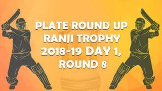 Ranji Trophy 2018-19, Round 8, Plate, Day 1: Puducherry lead Manipur by 18 runs