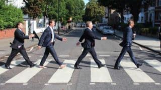 Brett Lee and other cricket experts imitate The Beatles