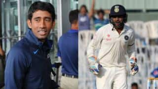 No competition with Parthiv Patel, says Wriddhiman Saha