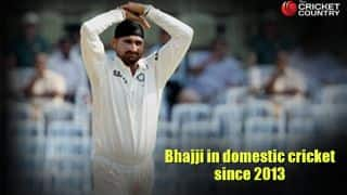 Harbhajan Singh's statistics in domestic cricket since his last appearance for India