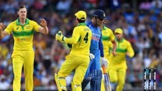 India vs Australia, 1st ODI: We were lucky to get MS Dhoni out lbw; Jhye Richardson