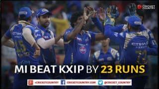 Mumbai Indians outclass Kings XI Punjab to win Match 35 of IPL 2015 by 23 runs