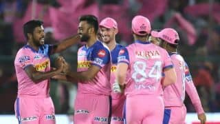 RR vs SRH Live: Rajasthan Royals restrict Sunrisers Hyderabad to 160/8 despite Manish Pandey's 61