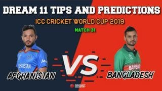AFG vs BAN Dream11 Prediction, Cricket World Cup 2019: Best Playing XI Players to Pick for Today's Match between Afghanistan and Bangladesh at 3 PM
