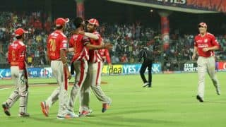 Kevin Pietersen reaches fifty for Delhi Daredevils against Kings XI Punjab in IPL 2014