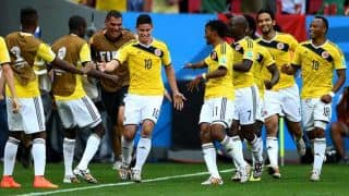 Columbia beat Ivory Coast 2-1 in FIFA World Cup 2014