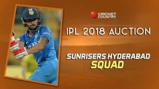 Sunrisers Hyderabad (SRH) team squad for IPL 2018: Final list of players after auction