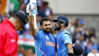 'उम्मीद है कि रोहित शर्मा दो और शतक जमाएं, हम विश्व कप जीतें'