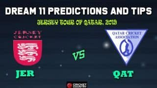 JER vs QAT Dream11 Team Jersey vs Qatar, 1st T20I, Jersey tour of Qatar 2019 – Cricket Prediction Tips For Today's Match JER vs QAT at Doha