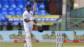 1st Test: Agarwal sizzles with maiden ton, India cruising