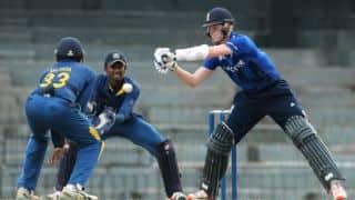 Eng U19 41/2 in 10 overs | Live Cricket Score, Sri Lanka U19 vs England U19 2015, 6th ODI at Colombo: Match disturbed by bad light