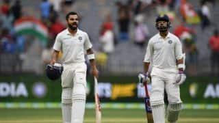 Cheteshwar Pujara and Ajinkya Rahane tango with Virat Kohli, to India's gain