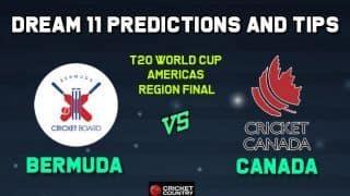 BER vs CAN Dream11 Team Bermuda vs CANADA, ICC Men's T20 World Cup Americas region final – Cricket Prediction Tips For Today's Match BER vs CAN at Sandys Parish