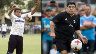 9 अक्टूबर को सौरव गांगुली और डिएगो माराडोना के बीच फुटबॉल मैच