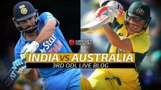 AUS 296/7 in 48.5 overs | Live Cricket Score, India vs Australia 2015-16, 3rd ODI at MCG; Australia beat India by 3 wickets