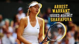 Arrest warrant issued against Maria Sharapova