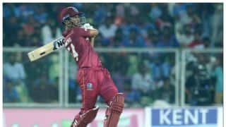 Ind vs wi 2nd t20 international match lendle simmons hits half century west indies beat india by 8 wickets to level t20 series 1 1