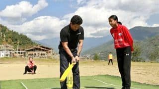 Sachin Tendulkar plays cricket in Bhutan, promotes sanitation