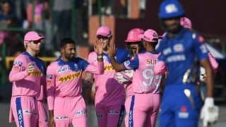 Disciplined Rajasthan Royals limit Mumbai Indians to 161 for 5