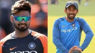 Syed Kirmani wants Wriddhiman Saha should be given equal opportunity to Rishabh Pant
