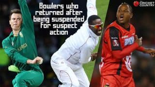 Bowlers suspended for suspect action