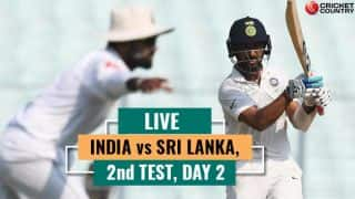 Highlights, IND vs SL, 2nd Test, Day 2: Pujara slams hundred, Kohli gets to fifty