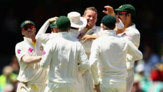 Ashes 2013-14: England bowled out for 155 before tea on Day 2 of 5th Test against Australia