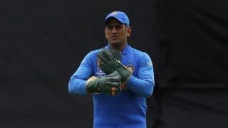 Cricket World Cup 2019: MS Dhoni removes Army insignia from gloves in keeping with ICC order