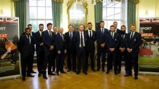 England cricket team visits British Prime Minister David Cameron: In Photos