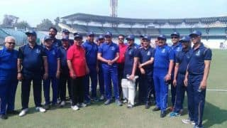 Sourav Ganguly bats during CAB's 90th Foundation Day