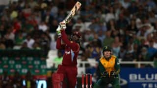 Chris Gayle blitz guides West Indies to last-over victory against South Africa in 2nd T20I at Johannesburg